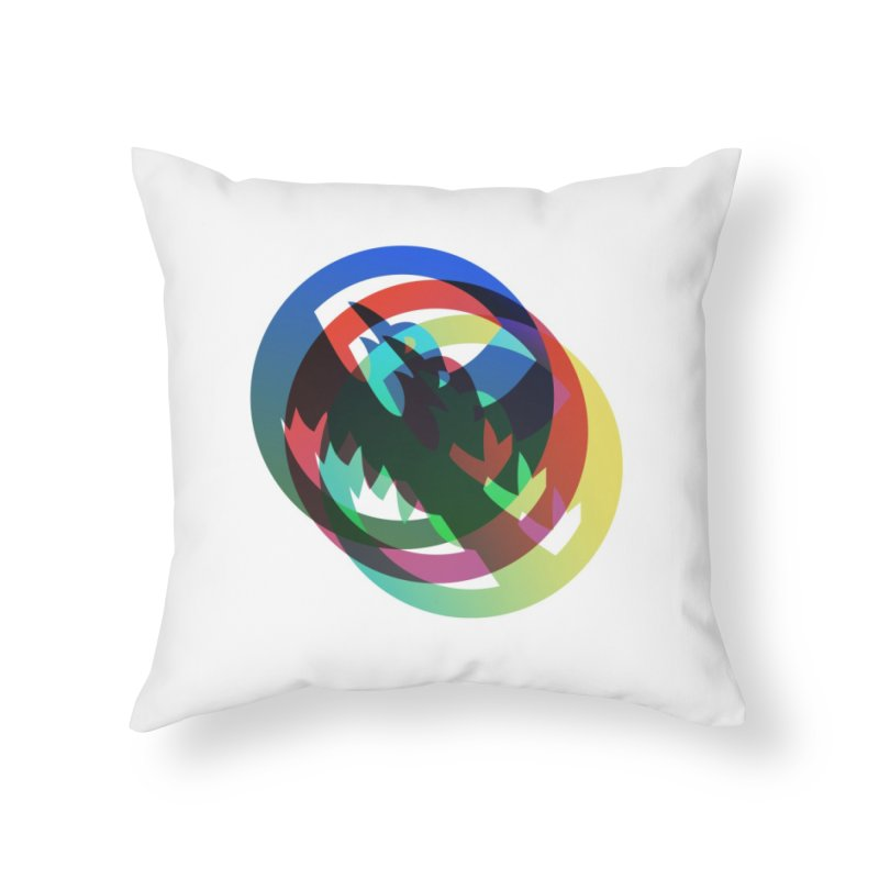 Modo Ego Sum  Liberum | one? trippy psychadeilc bird Home Throw Pillow by MarcusFartist | Art POD Factory