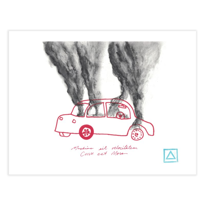 Car Fire Smoke | Something is burning? Home Fine Art Print by MarcusFartist | Art POD Factory