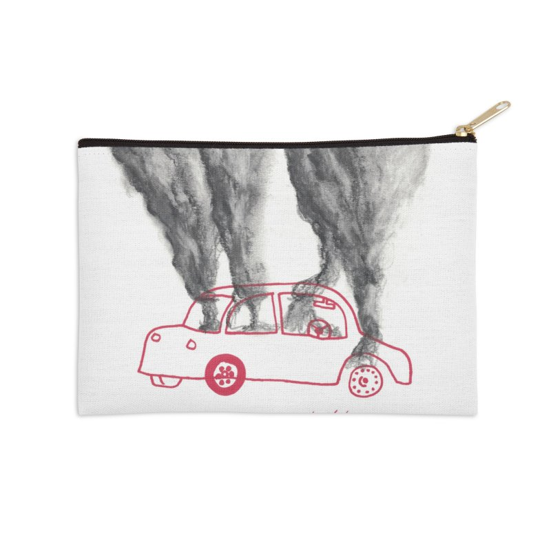 Car Fire Smoke   Something is burning? Accessories Zip Pouch by MarcusFartist   Art POD Factory