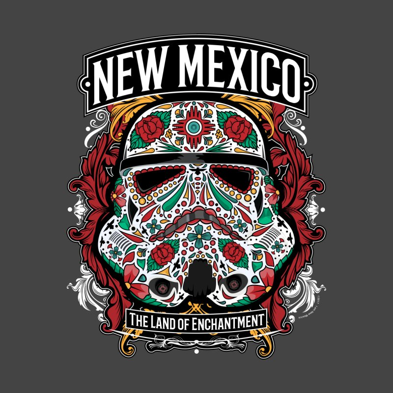 New Mexico Land of Enchantment Sugar Skull Trooper by I am New Mexico Merchandise