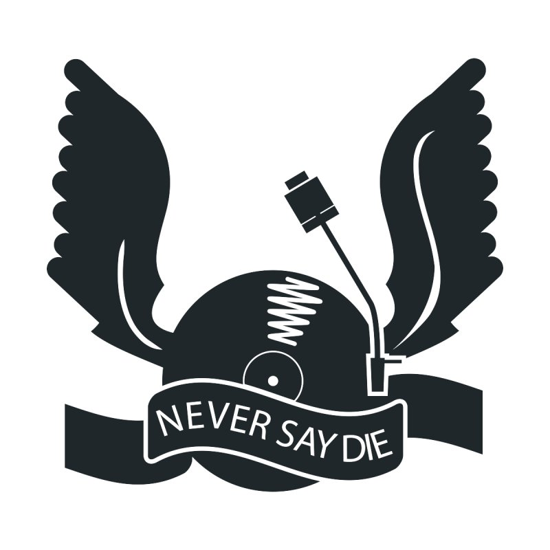 Never Say Die Home Fine Art Print by PK store