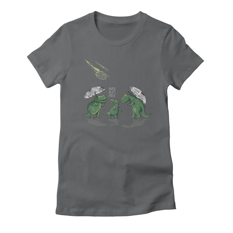 Paper Beats Rock Women's Fitted T-Shirt by IAmRobman