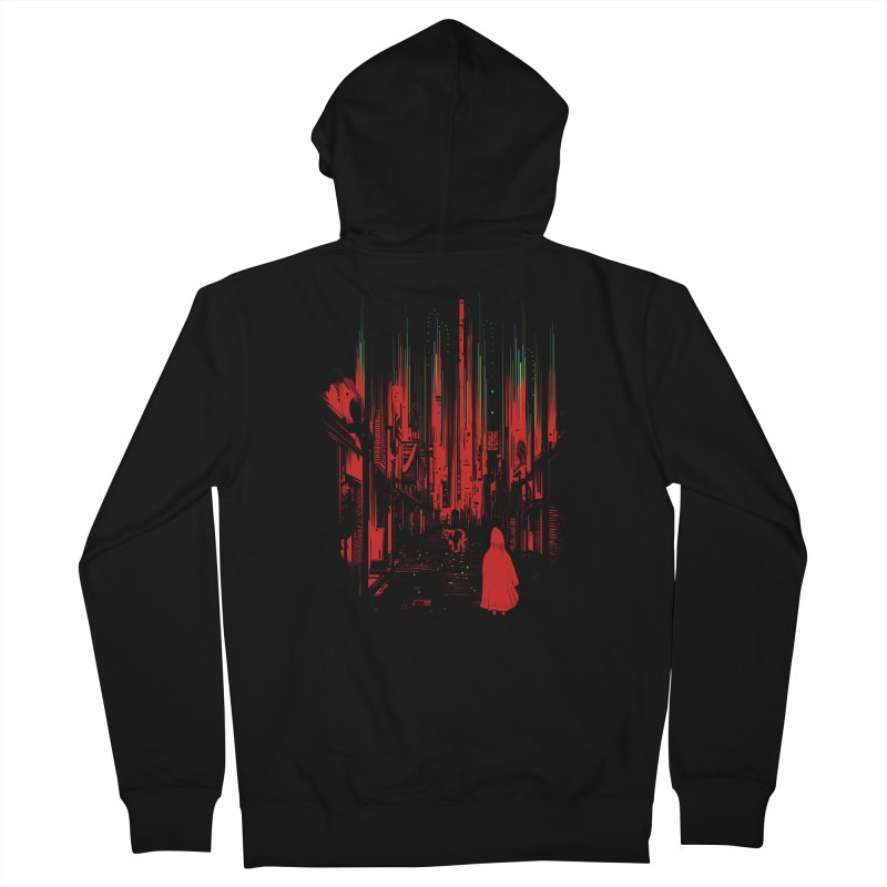 Meet Me Where The Night Glows Men's French Terry Zip-Up Hoody by IAmRobman