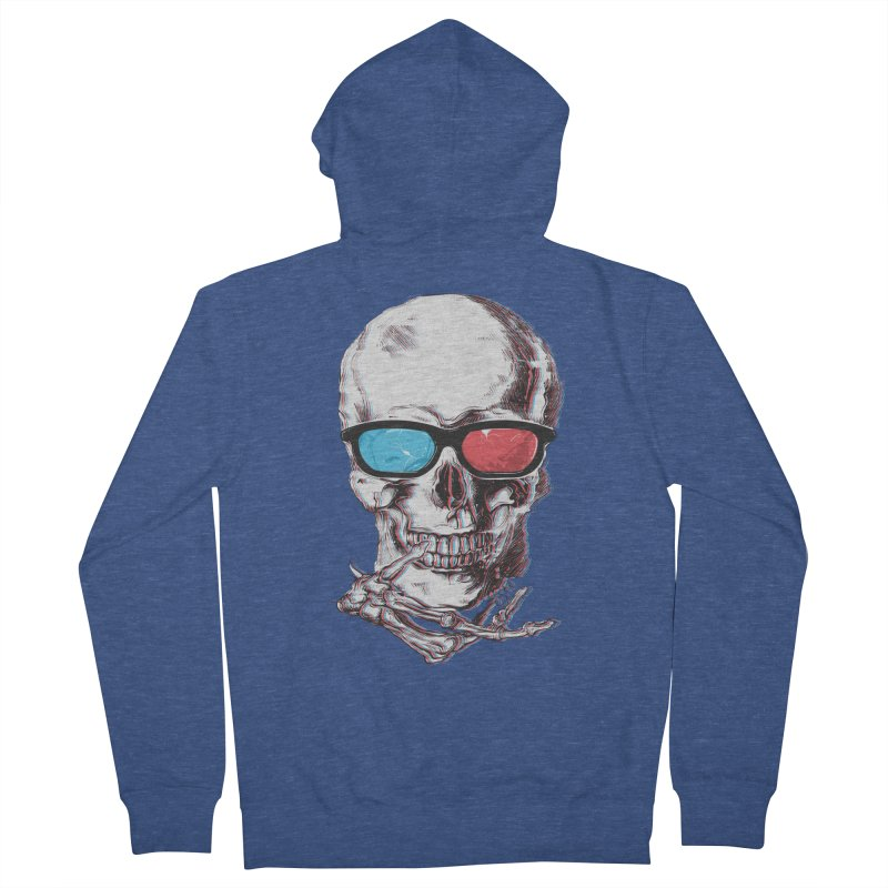 3 Death Men's French Terry Zip-Up Hoody by IAmRobman