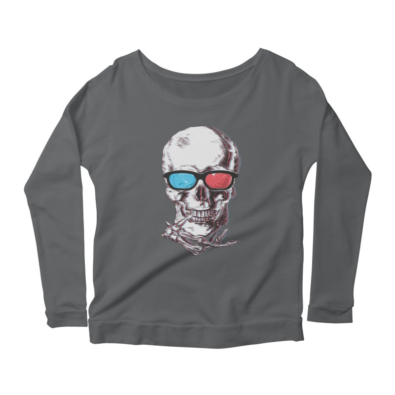 3 Death Women's Longsleeve Scoopneck  by IAmRobman