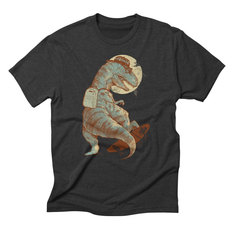 Hipster T-Rex Men's Triblend T-shirt by IAmRobman