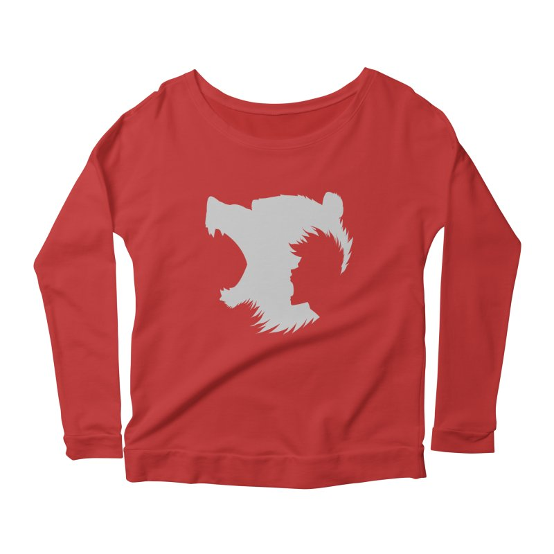 Passive Aggressive Women's Longsleeve Scoopneck  by Designs By Randolph Williams