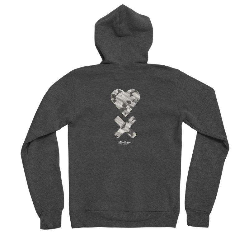 HEART X CAMO ONE Men's Zip-Up Hoody by iamthepod's Artist Shop