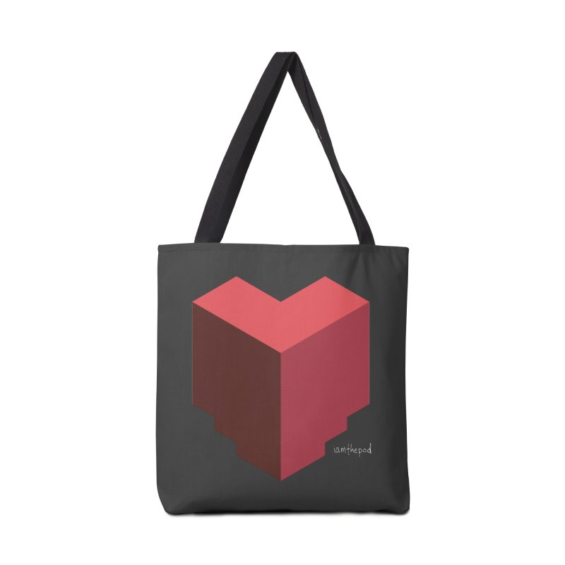 Iso Heart Accessories Tote Bag Bag by iamthepod's Artist Shop