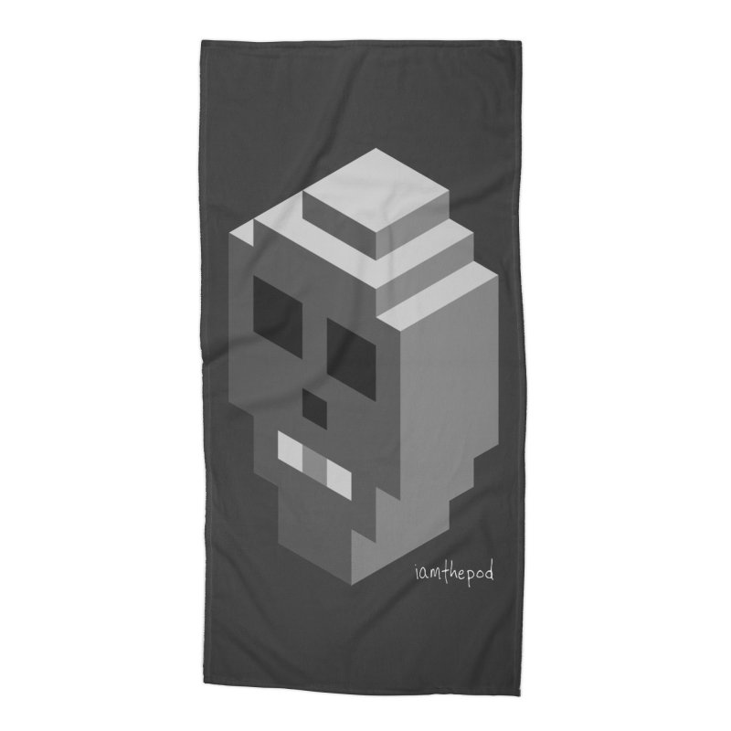 Isometric Skull Accessories Beach Towel by iamthepod's Artist Shop