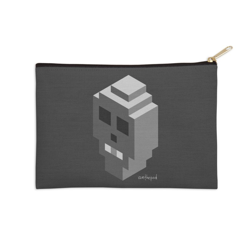 Isometric Skull Accessories Zip Pouch by iamthepod's Artist Shop
