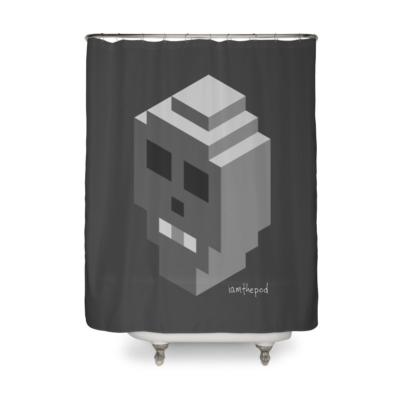 Isometric Skull Home Shower Curtain by iamthepod's Artist Shop