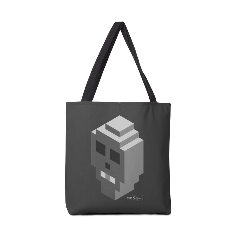 Isometric Skull Accessories Tote Bag Bag by iamthepod's Artist Shop