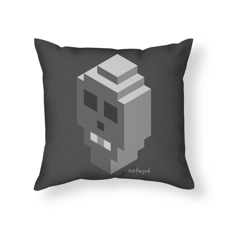 Isometric Skull Home Throw Pillow by iamthepod's Artist Shop