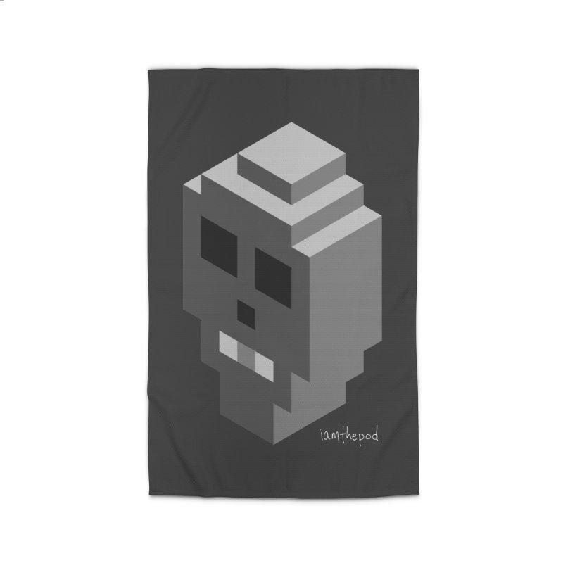 Isometric Skull Home Rug by iamthepod's Artist Shop