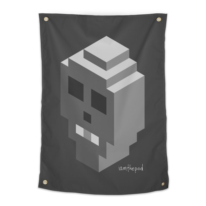 Isometric Skull Home Tapestry by iamthepod's Artist Shop