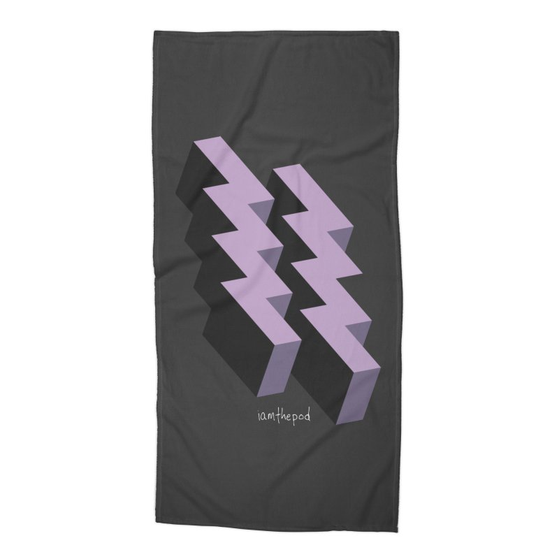 Isometric Lightning Accessories Beach Towel by iamthepod's Artist Shop