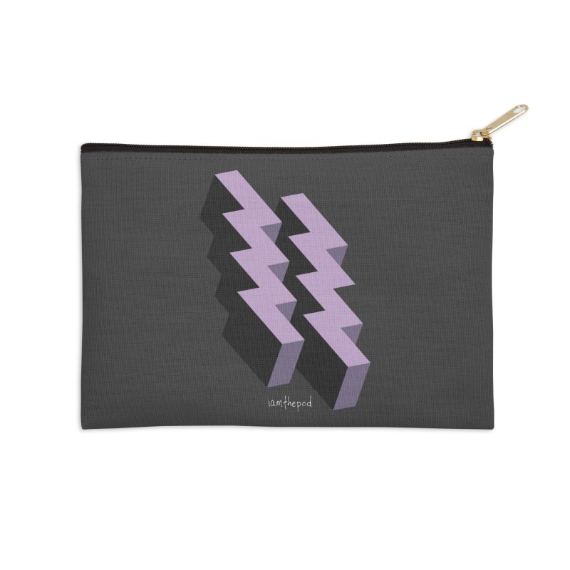 Isometric Lightning Accessories Zip Pouch by iamthepod's Artist Shop