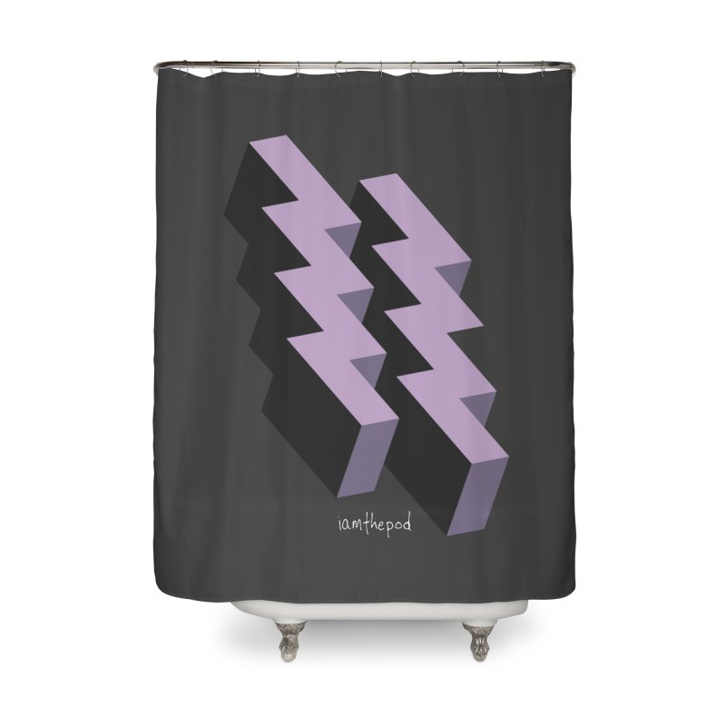 Isometric Lightning Home Shower Curtain by iamthepod's Artist Shop