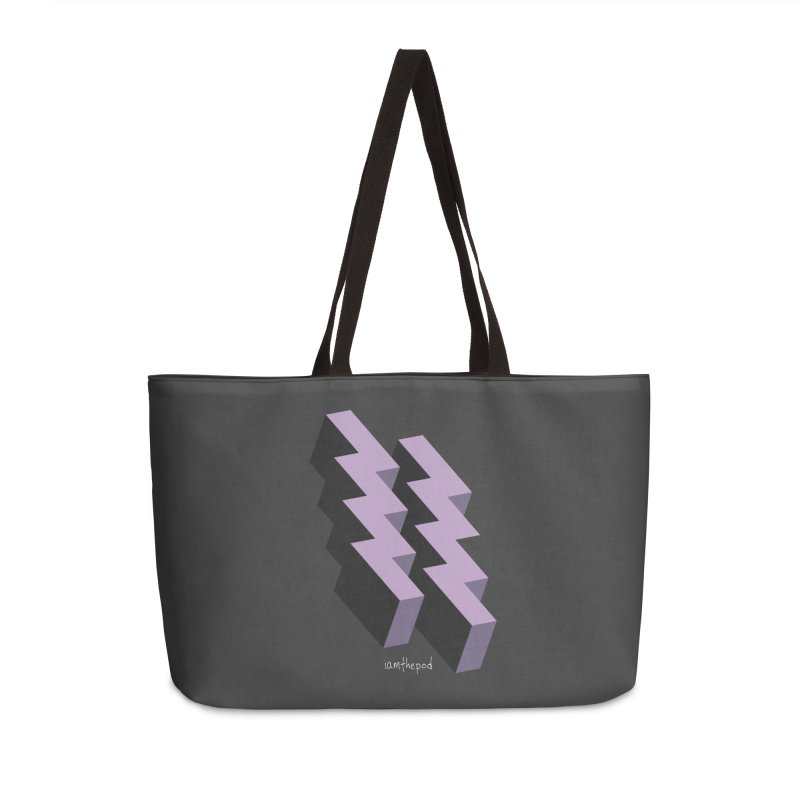 Isometric Lightning Accessories Weekender Bag Bag by iamthepod's Artist Shop