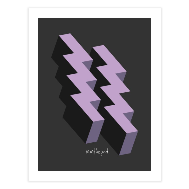 Isometric Lightning Home Fine Art Print by iamthepod's Artist Shop