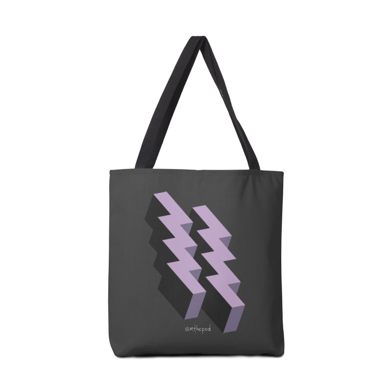 Isometric Lightning Accessories Tote Bag Bag by iamthepod's Artist Shop