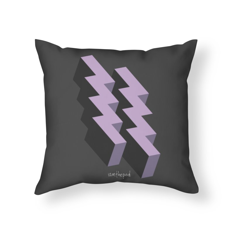 Isometric Lightning Home Throw Pillow by iamthepod's Artist Shop