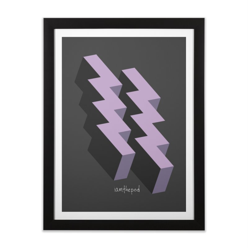 Isometric Lightning Home Framed Fine Art Print by iamthepod's Artist Shop