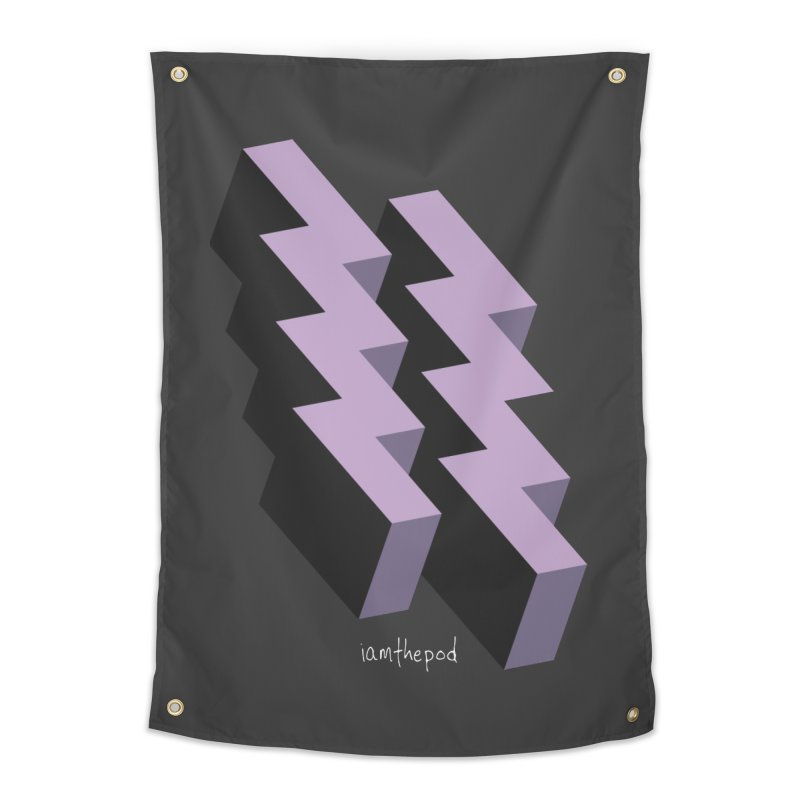 Isometric Lightning Home Tapestry by iamthepod's Artist Shop