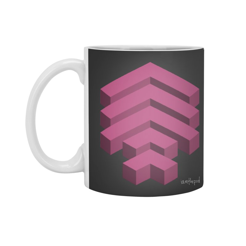 Isometric Arrows Accessories Standard Mug by iamthepod's Artist Shop