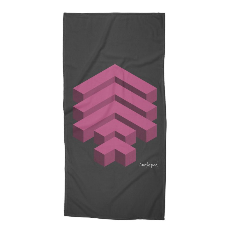 Isometric Arrows Accessories Beach Towel by iamthepod's Artist Shop