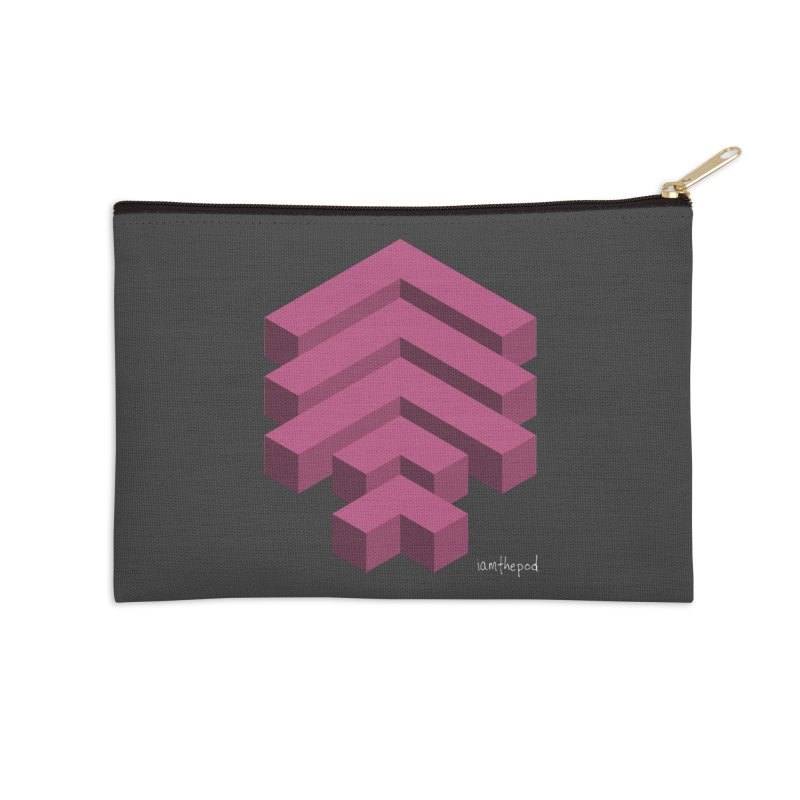 Isometric Arrows Accessories Zip Pouch by iamthepod's Artist Shop