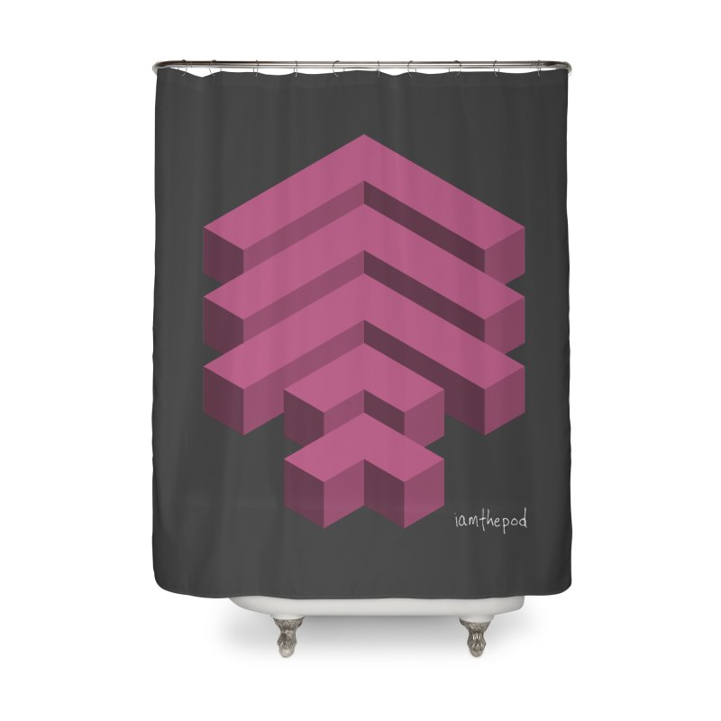 Isometric Arrows Home Shower Curtain by iamthepod's Artist Shop