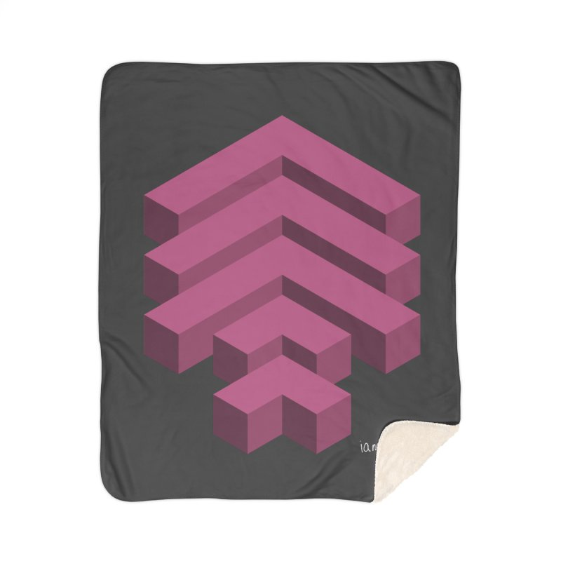 Isometric Arrows Home Sherpa Blanket Blanket by iamthepod's Artist Shop