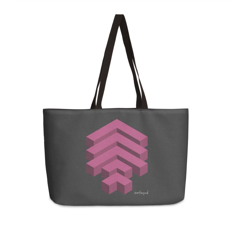Isometric Arrows Accessories Weekender Bag Bag by iamthepod's Artist Shop