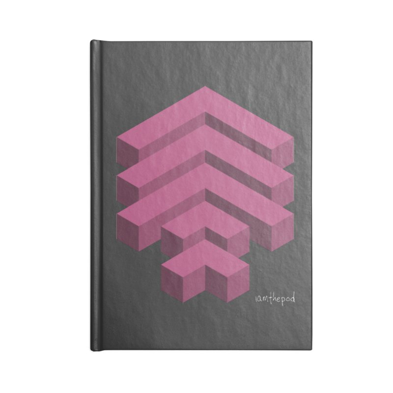 Isometric Arrows Accessories Notebook by iamthepod's Artist Shop