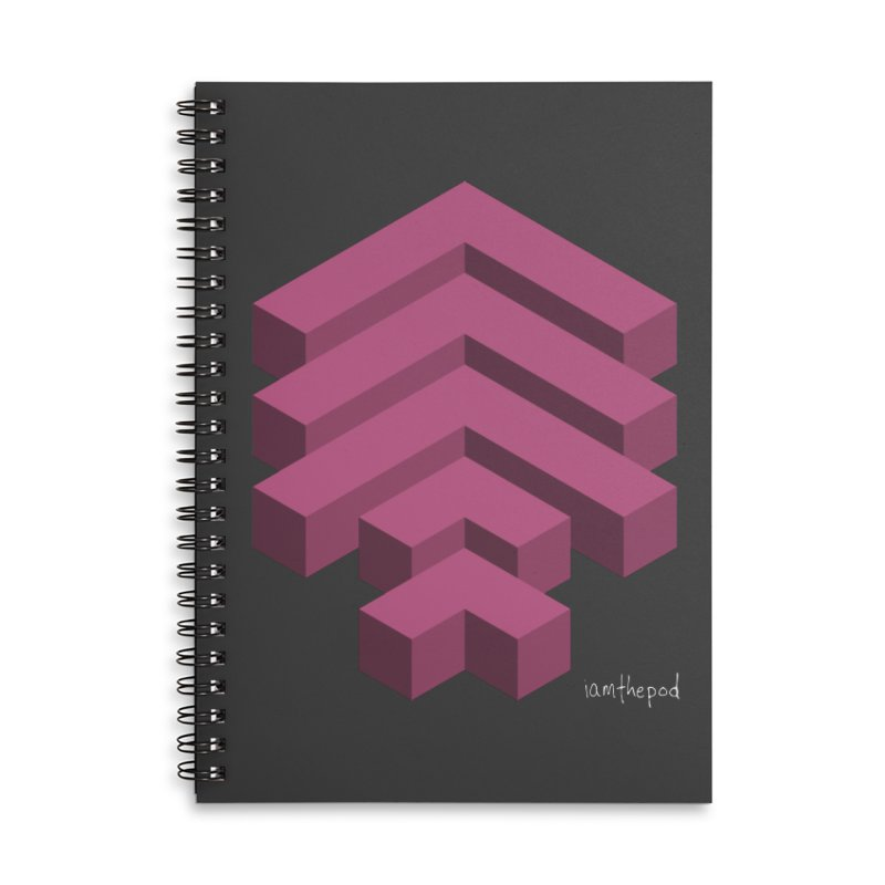 Isometric Arrows Accessories Lined Spiral Notebook by iamthepod's Artist Shop