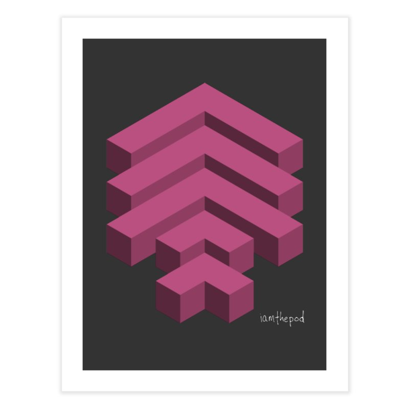 Isometric Arrows Home Fine Art Print by iamthepod's Artist Shop