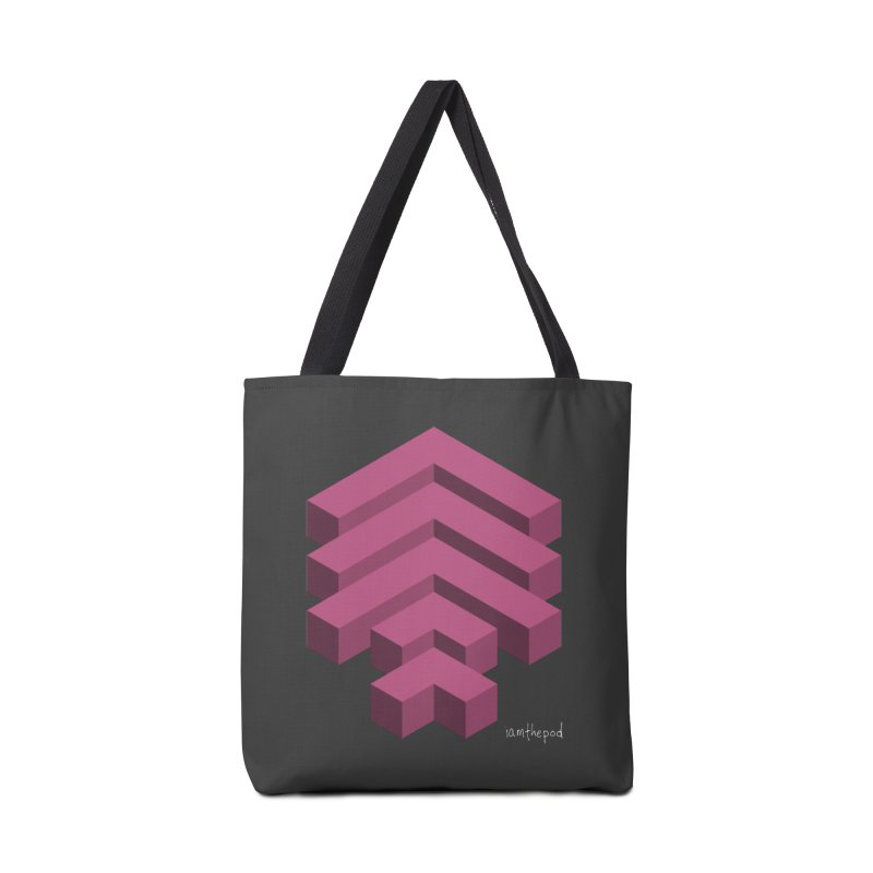 Isometric Arrows Accessories Bag by iamthepod's Artist Shop