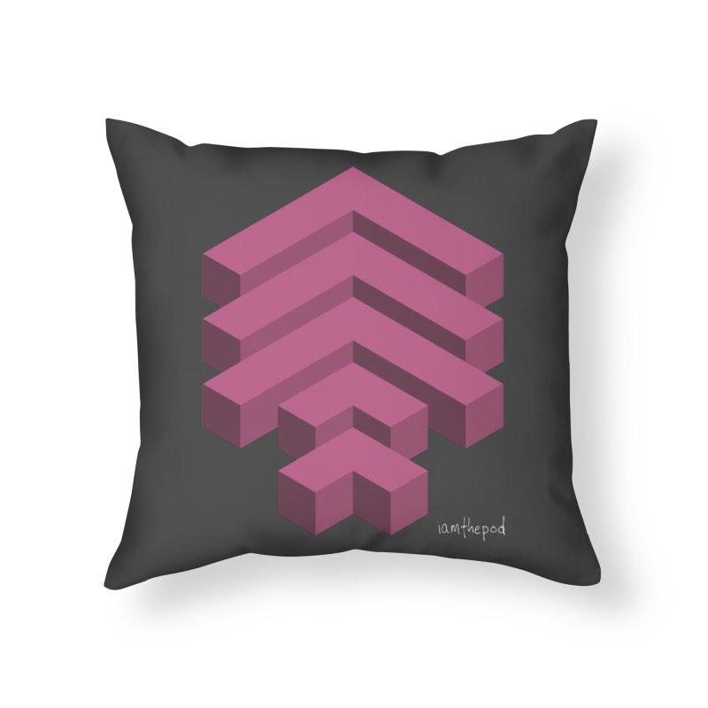 Isometric Arrows Home Throw Pillow by iamthepod's Artist Shop