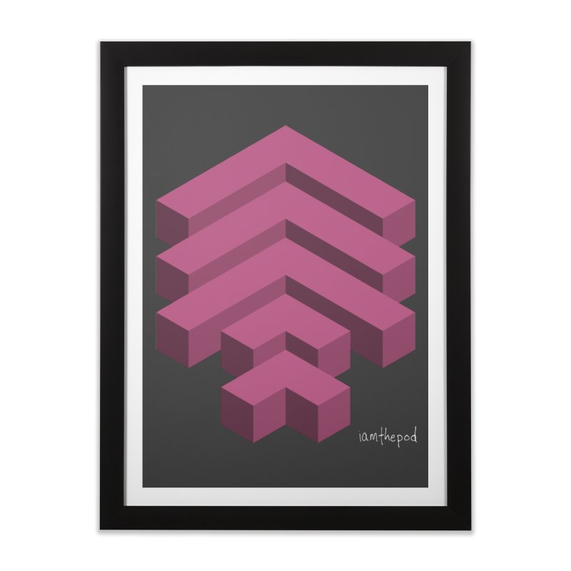 Isometric Arrows Home Framed Fine Art Print by iamthepod's Artist Shop