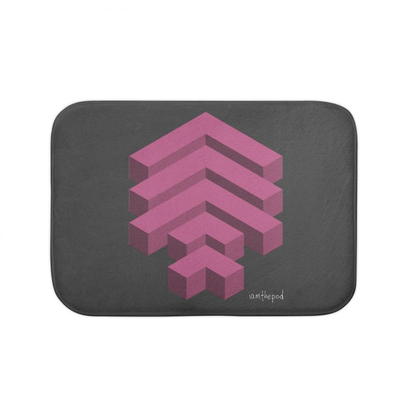 Isometric Arrows Home Bath Mat by iamthepod's Artist Shop