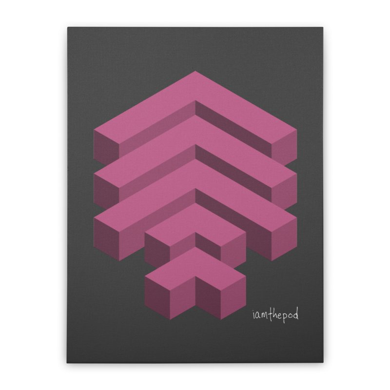 Isometric Arrows Home Stretched Canvas by iamthepod's Artist Shop