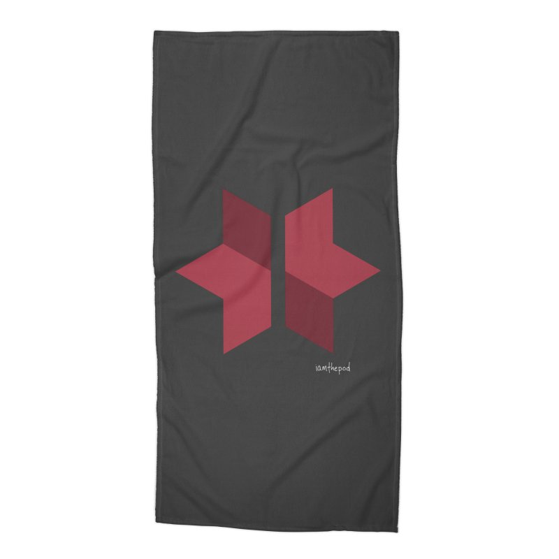 The Star Divided Accessories Beach Towel by iamthepod's Artist Shop