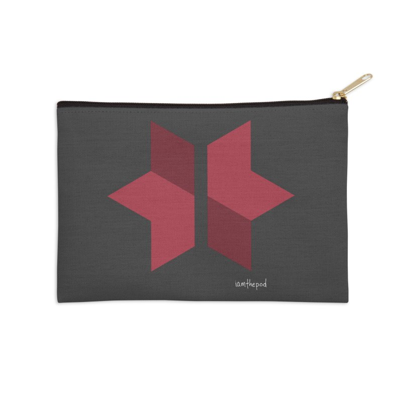 The Star Divided Accessories Zip Pouch by iamthepod's Artist Shop