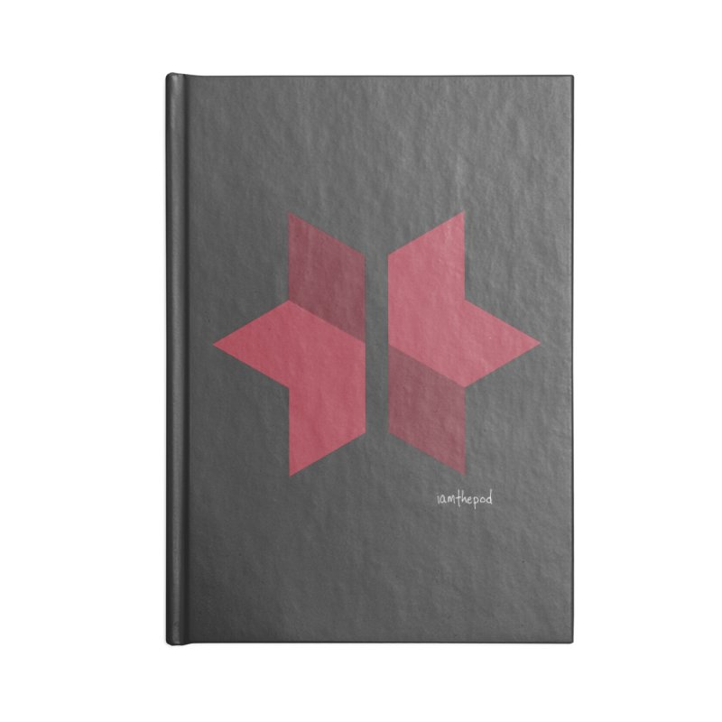 The Star Divided Accessories Lined Journal Notebook by iamthepod's Artist Shop