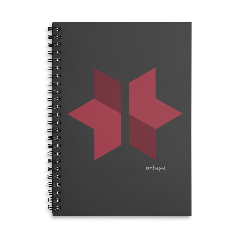The Star Divided Accessories Lined Spiral Notebook by iamthepod's Artist Shop
