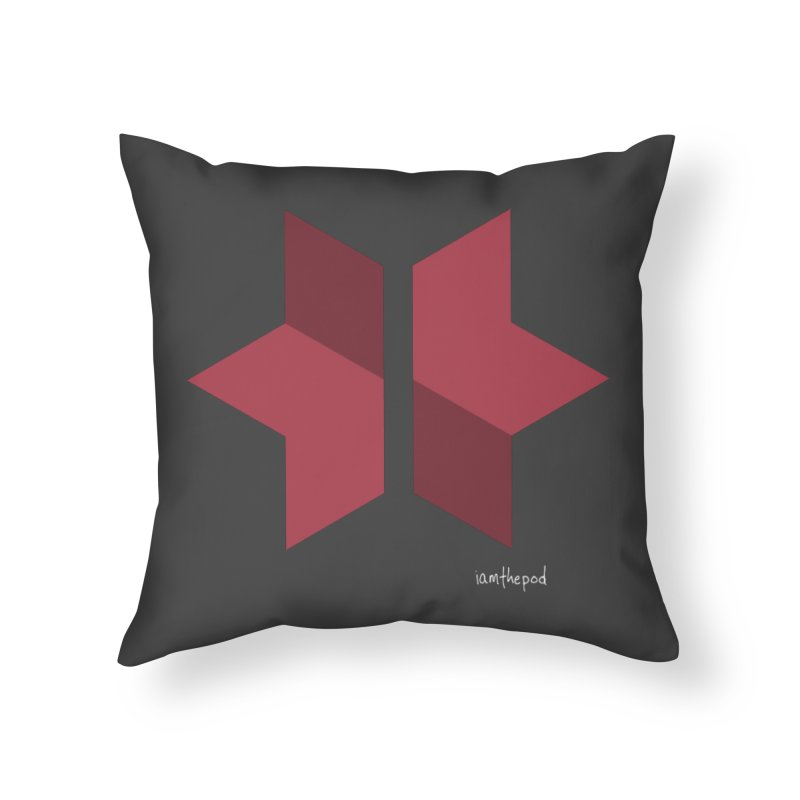 The Star Divided Home Throw Pillow by iamthepod's Artist Shop