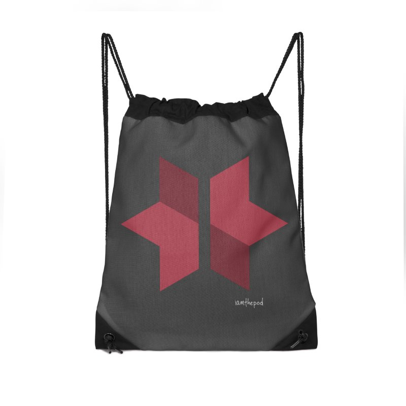 The Star Divided Accessories Drawstring Bag Bag by iamthepod's Artist Shop