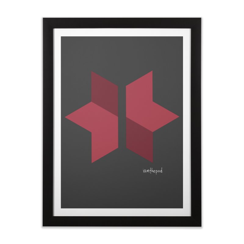 The Star Divided Home Framed Fine Art Print by iamthepod's Artist Shop